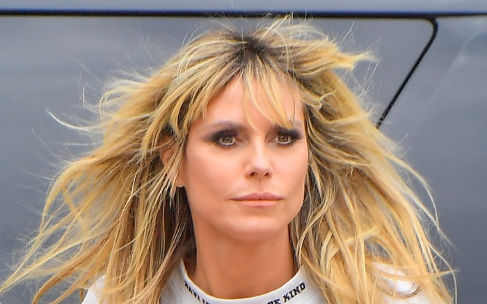 Heidi Klum arrives to America' Got Talent wearing a very revealing outfit in Pasadena Ca