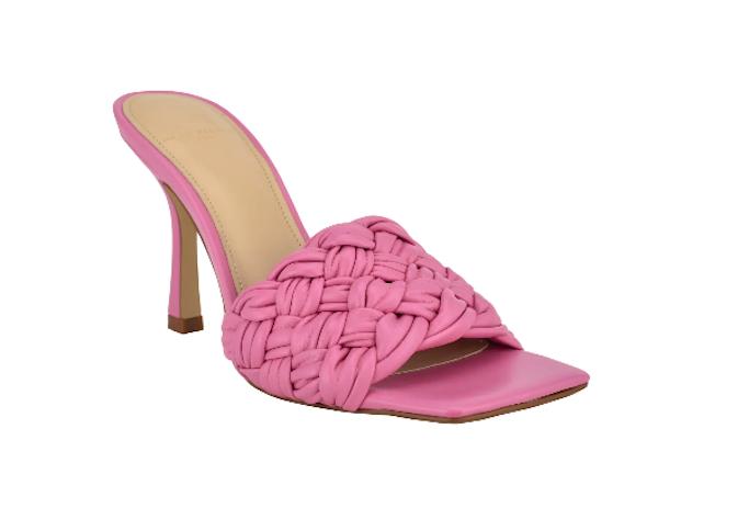 pink sandal, square toe sandal, Marc Fisher LTD Draya Sandals