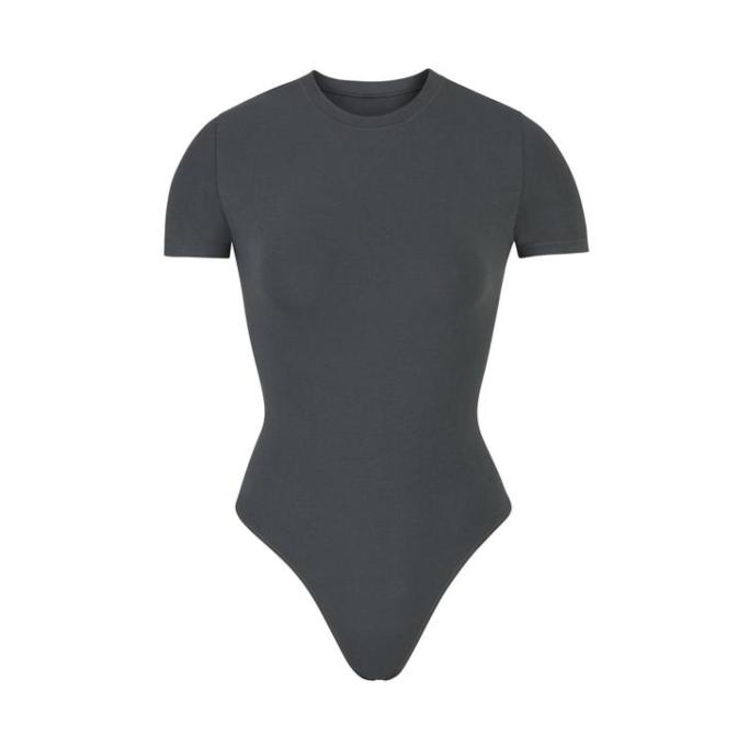 Cotton Jersey T-Shirt Bodysuit, skims memorial day sale