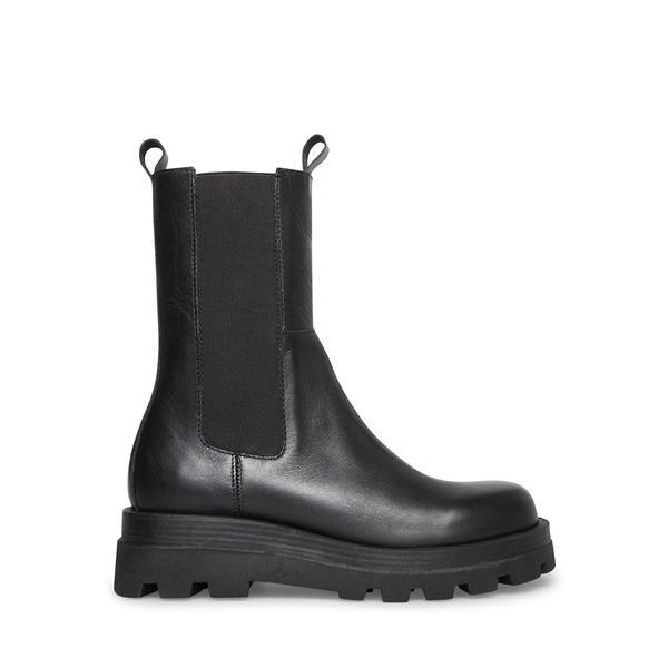 Steve Madden Explorer Black Leather Boots