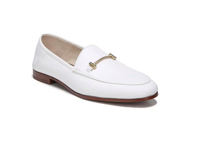 sam edelman, white loafers