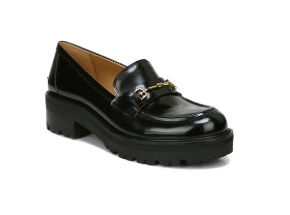 sam edelman, bloack loafers, lug sole loafers