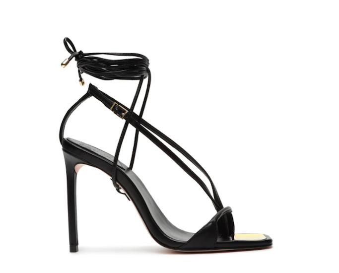 schutz, ankle wrap sandal