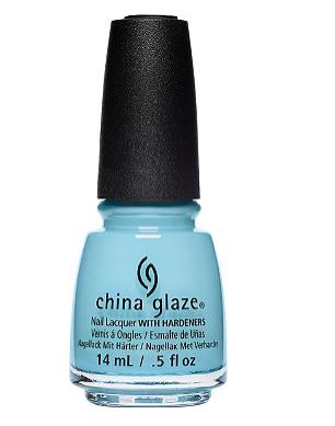 China Glaze Nail Polish, baby blue, chalk me up