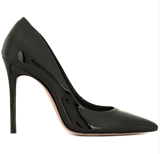 schutz pointed toe pumps, black patent leather, caioloea