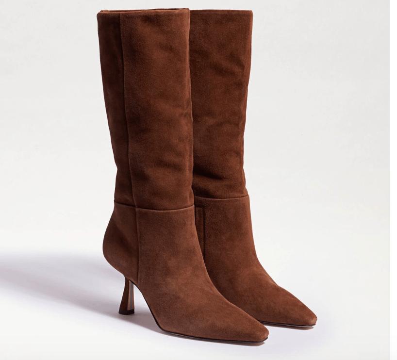 suede boots, sam edelman