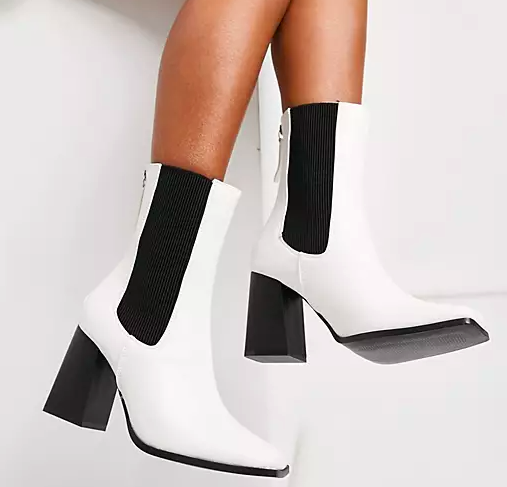 ASOS Truffle Collection Heeled Square Toe Boots