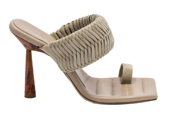 Gia Couture x RHW 1 Toe-Ring Suede Sandals