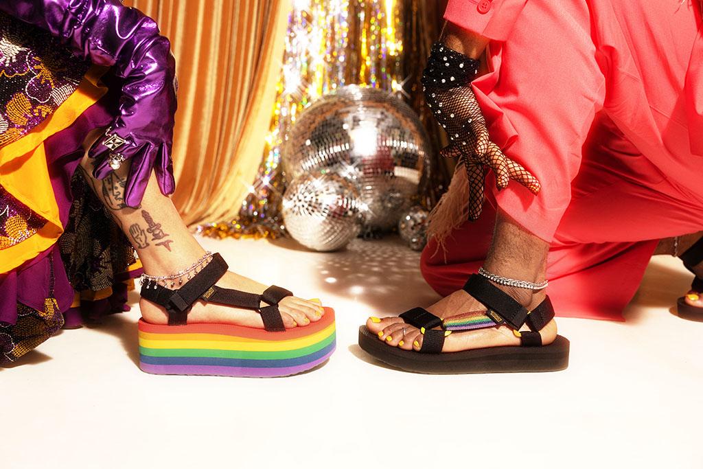 teva pride collection 2021, sandals, rainbow