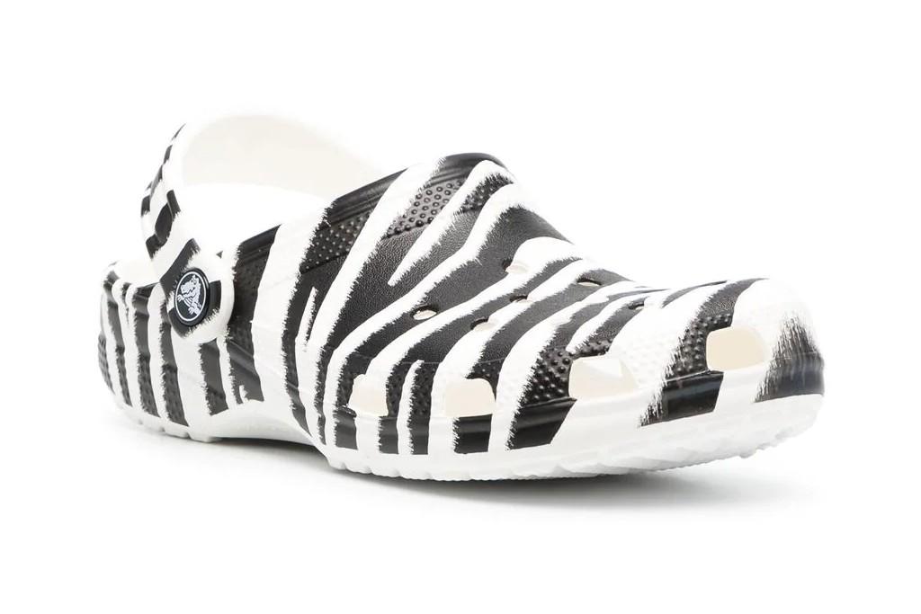 crocs zebra print clog, zebra print shoes