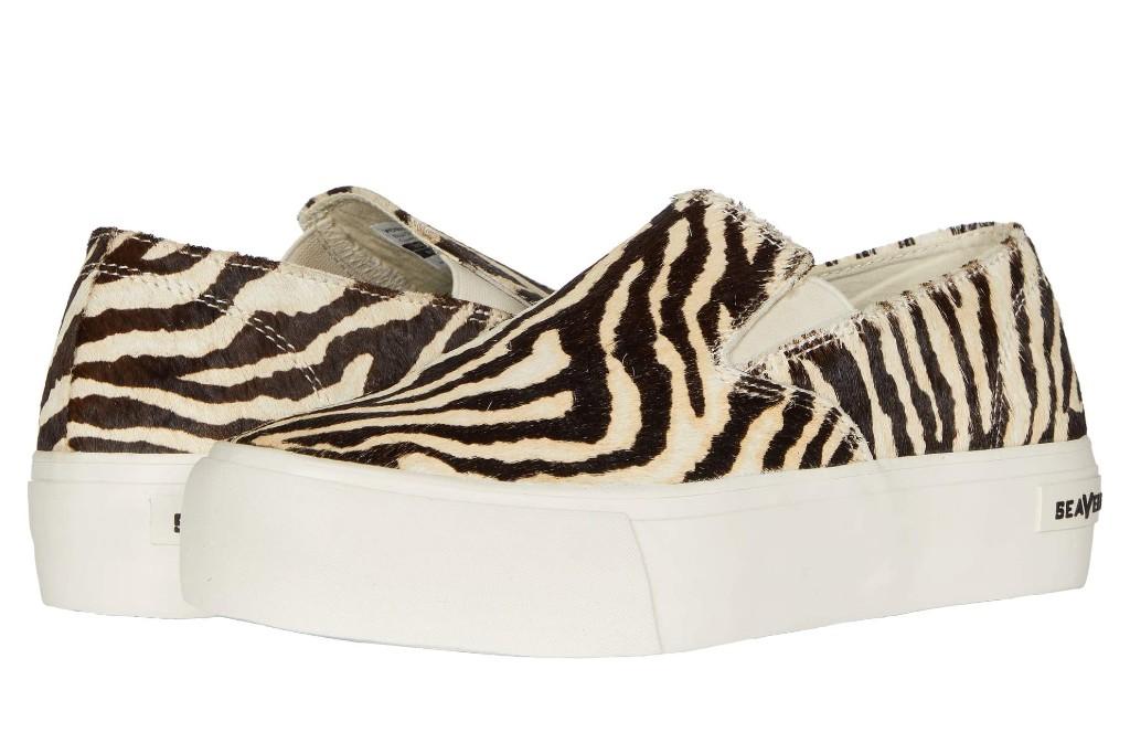 SeaVees Baja Slip-On Platform, zebra print shoes