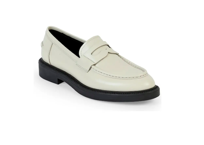 vagabond shoe makers, loafers, white loafers