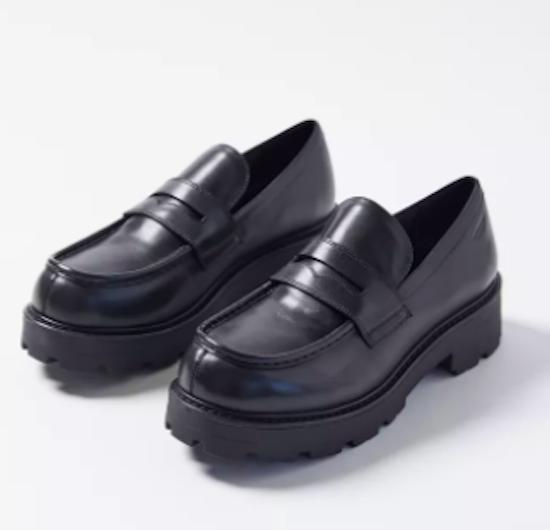 vagabon, black loafer, platform loafer