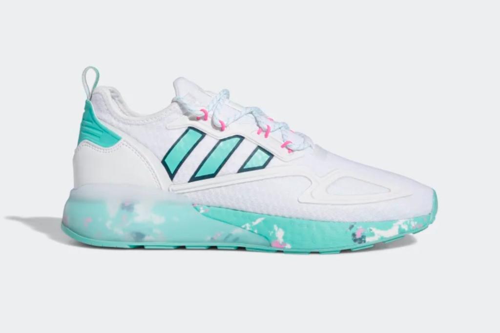 adidas, zx 2k boost, shoes, men, acid mint