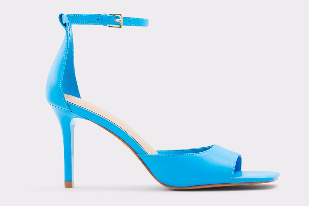 blue heels, sandals, aldo