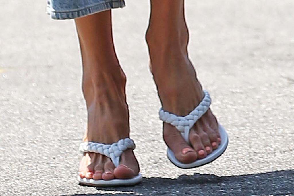 alessandra ambrosio, crop top, shirt, boyfriend shirt, jeans, purse, hermes, sandals, thong, heels, la