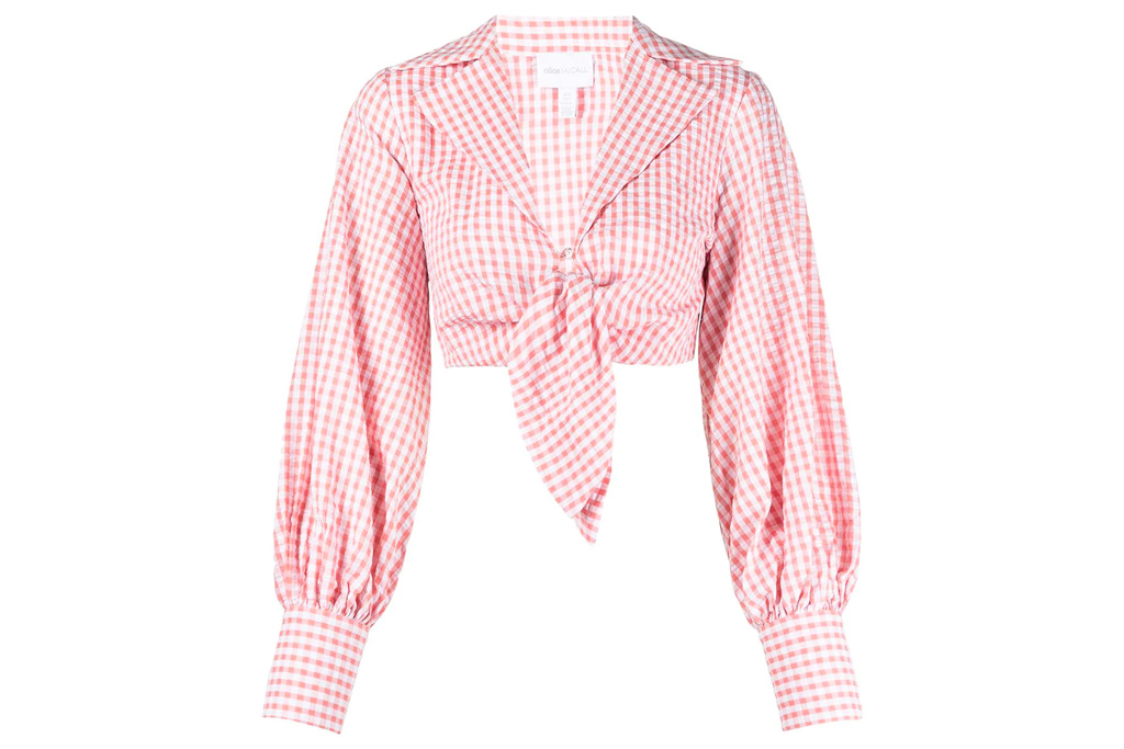 alice mccall, shirt, gingham