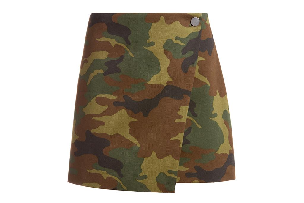 camo skirt, mini skirt, alice olivia