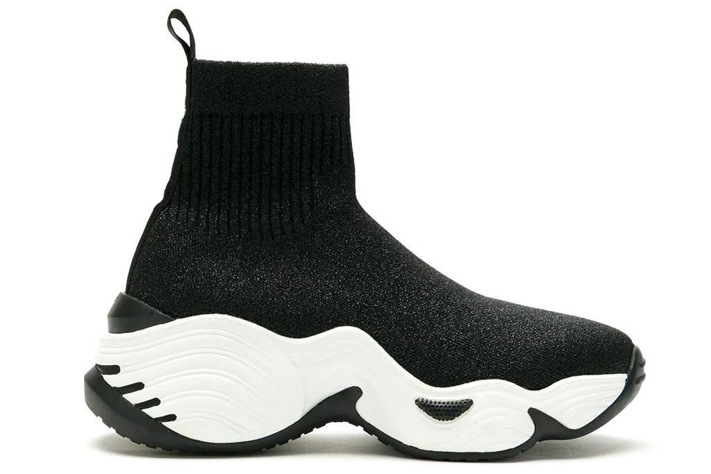 black sneakers, sock style, arrmani