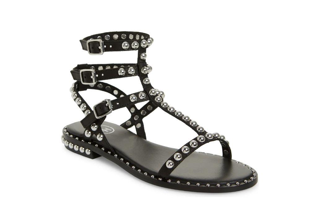 ash, studded game sandal, gladiator sandals