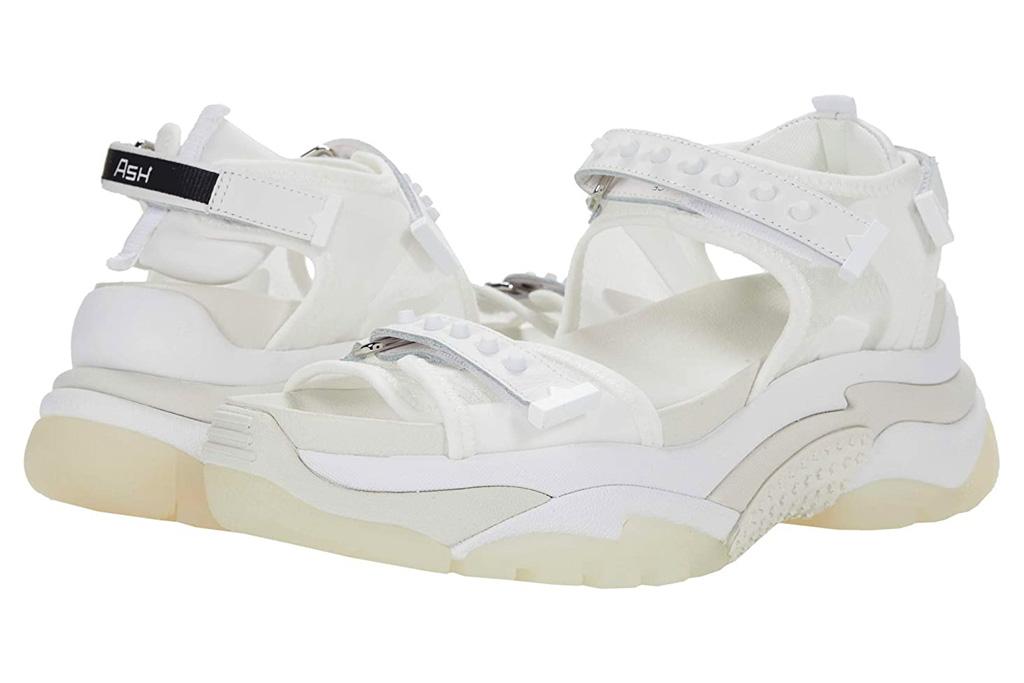 chunky sandals, white, ash