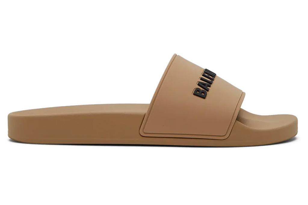 slides, brown, balenciaga