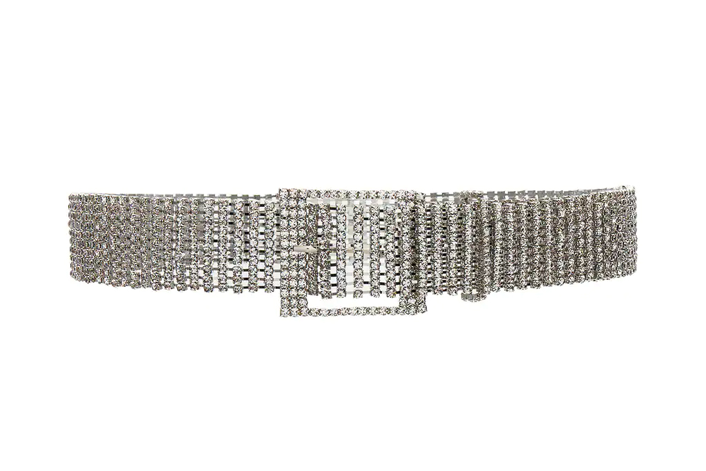 belt, silver, studded