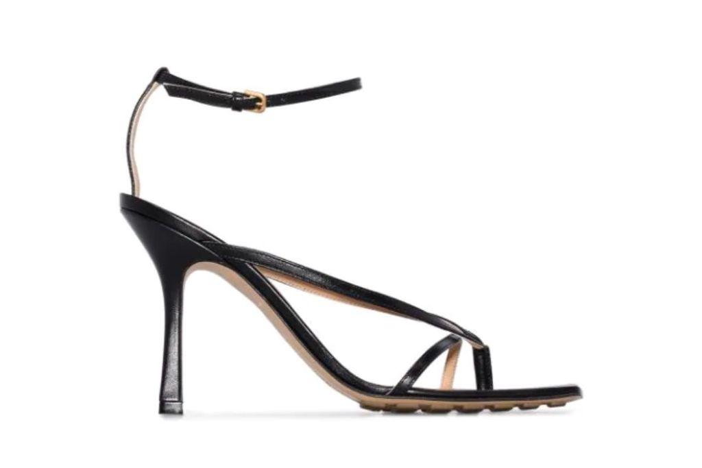 bottega veneta, leather sandals, square toe sandals