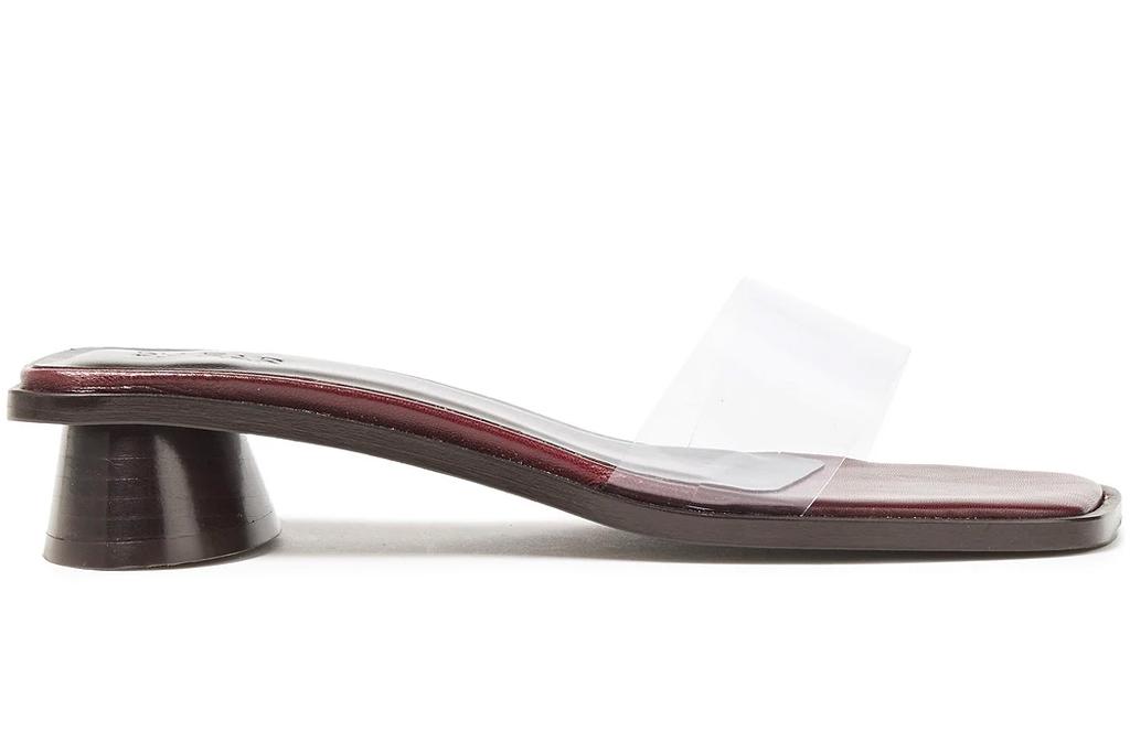 clear heels, mules, by far