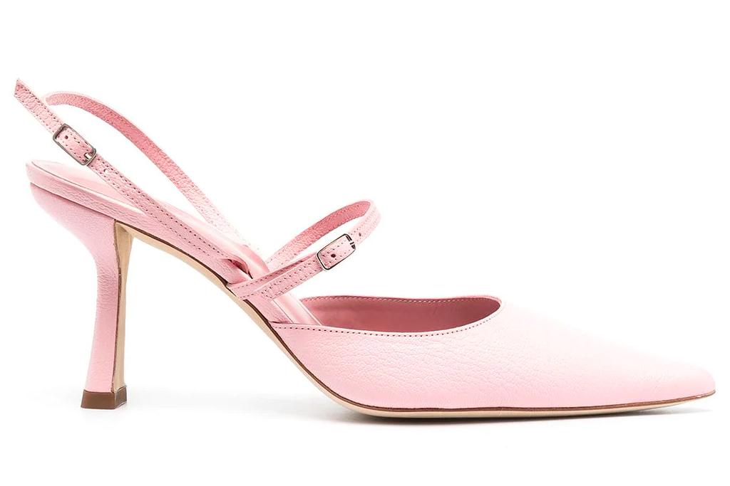 pink heels, slingbacks, by far
