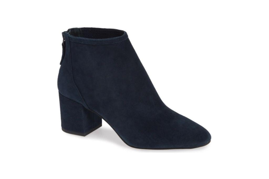 cecelia new york, nolton bootie, navy blue boots