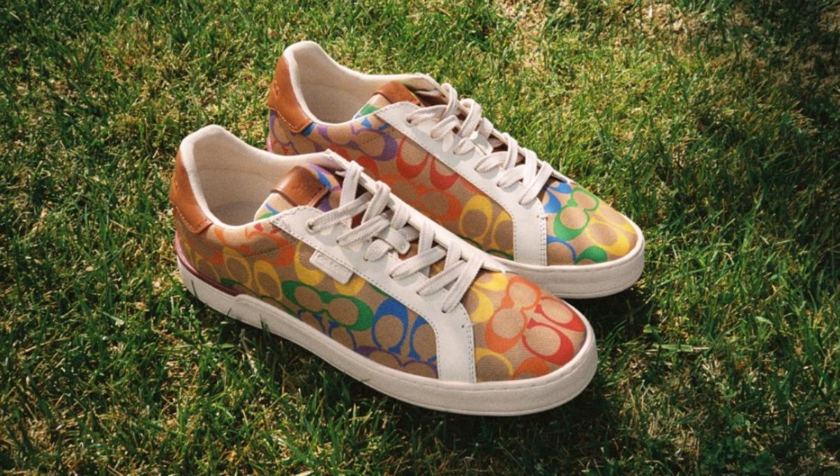 coach, pride, 2021, rainbow, signature, print, lgbtq, lowline sneakers