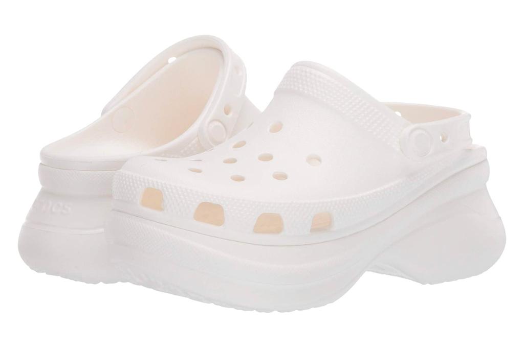 croc, clogs, white, bae, platform