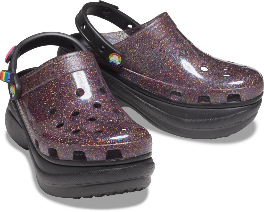crocs, pride, 2021, glitter, lgbtq, rainbow