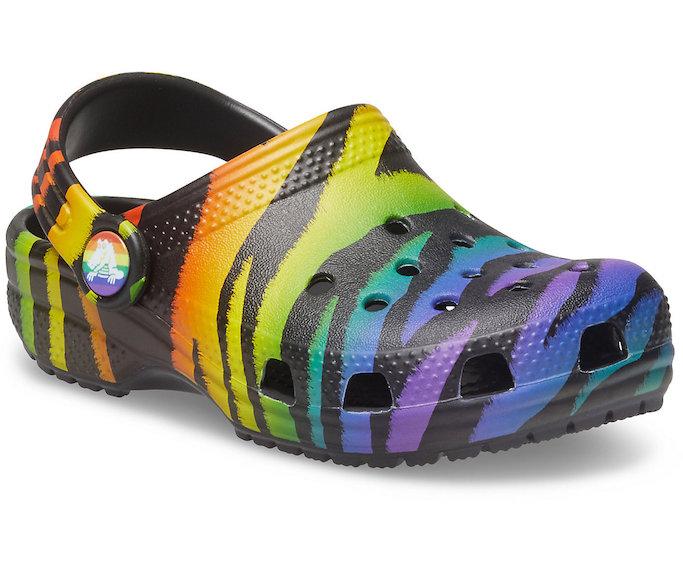 crocs seasonal printed clog, crocs pride 2021