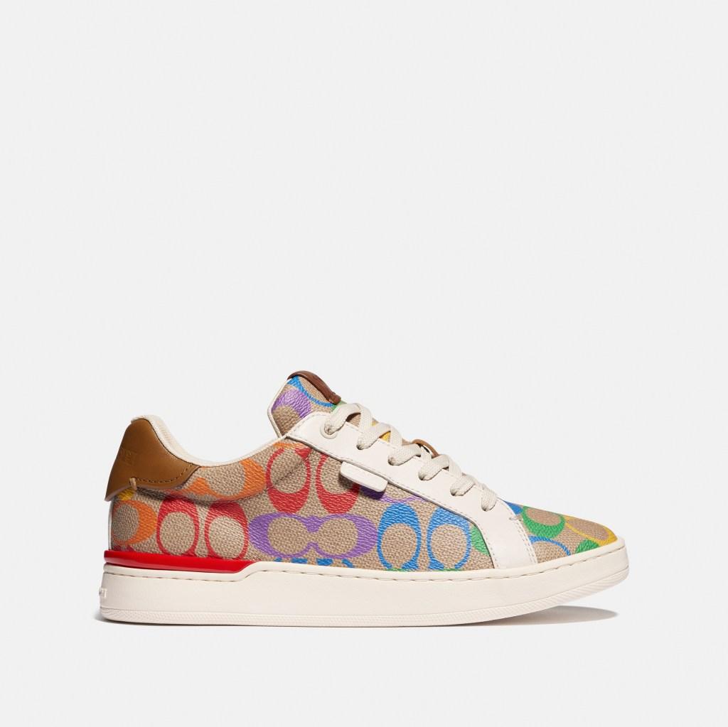 coach, pride, 2021, rainbow, signature, pattern, lgbtq, lowline sneakers