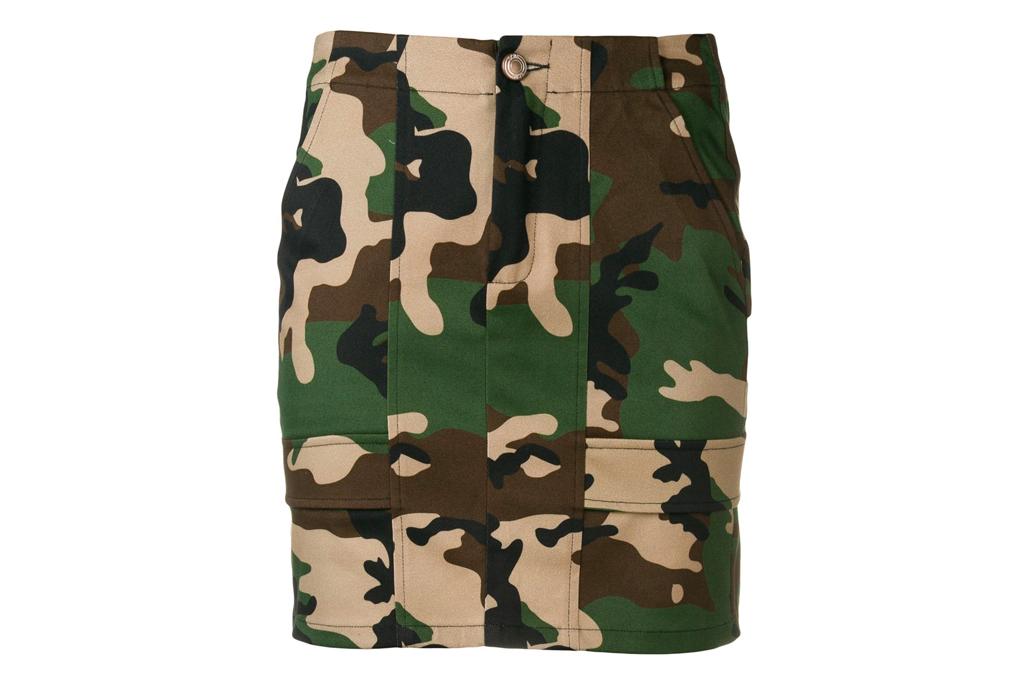 camo skirt, mini skirt, gcds
