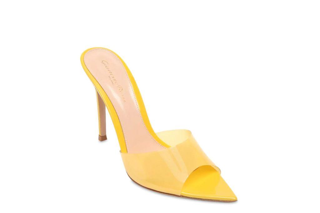 gianvito rossi, plexi mules, pointed toe sandal heels