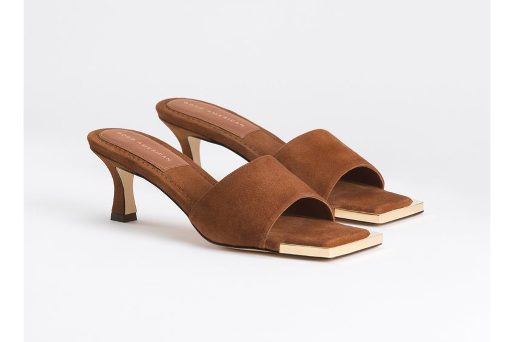 good american square toe mule, best office shoes