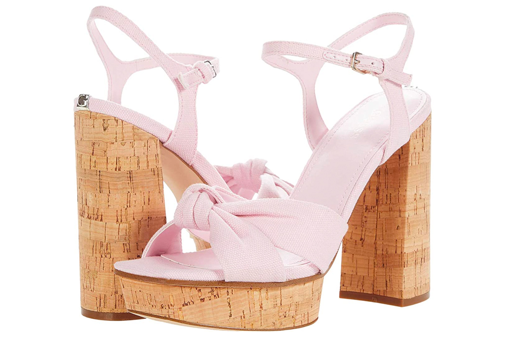 pink heels, platforms, guess