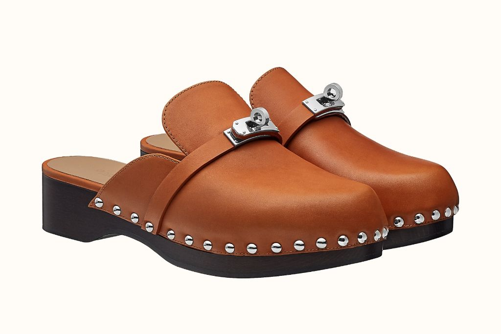 clogs, clog shoes, how to wear clogs, clog shoe trend, spring 2021 fashion trends, spring 2021 trends, trends, fashion, shoes, hermes, hermes clog
