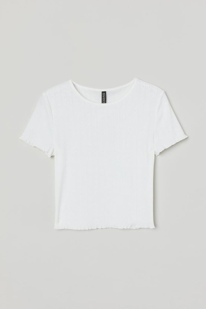 H&M, white top