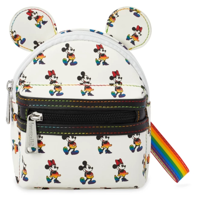 Mickey and Minnie Mouse Loungefly Wristlet, disney rainbow pride collection