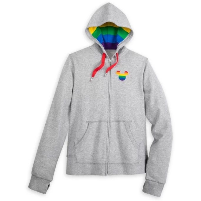 Mickey Mouse Zip-Up Hoodie, disney rainbow collection