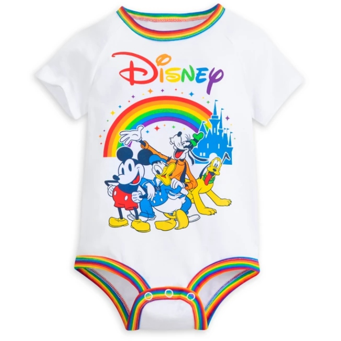 Mickey Mouse and Friends Bodysuit for Baby, rainbow disney pride collection