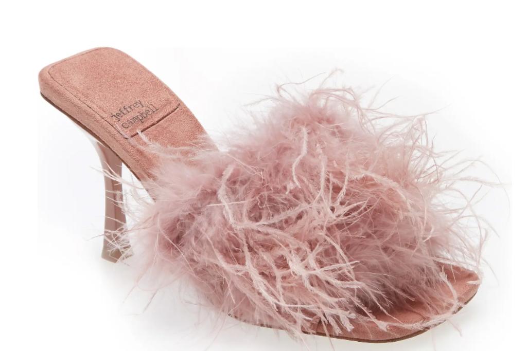 feather heels, jeffrey campbell