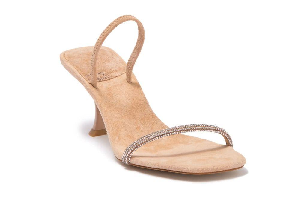 Jeffrey Campbell, Jewel Embellished Double Strap Mule, Jewel Heels