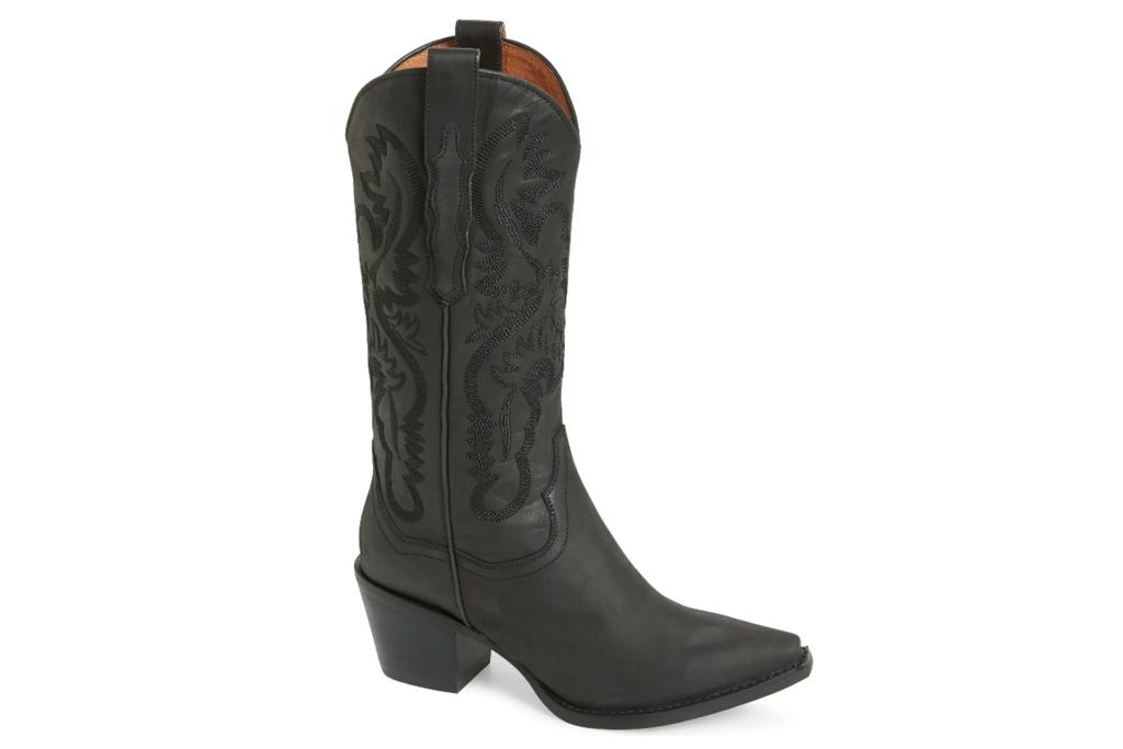 black boots, cowboy, jeffrey campbell