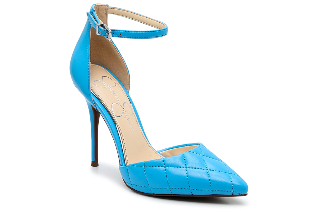 blue heels, sandals, jessica simpson