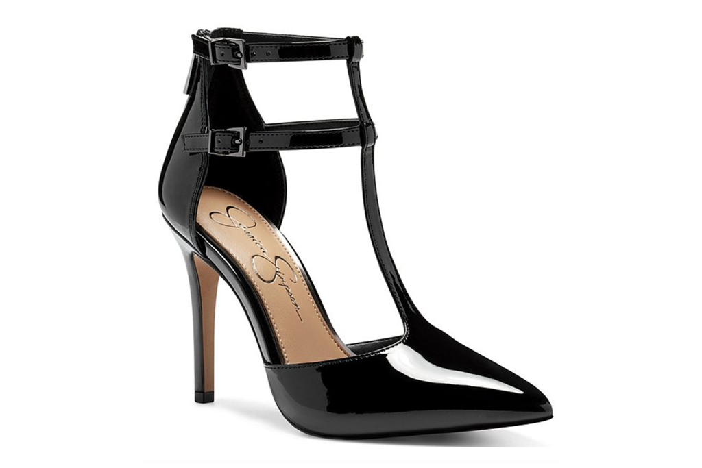 black heels, pumps, jessica simpson